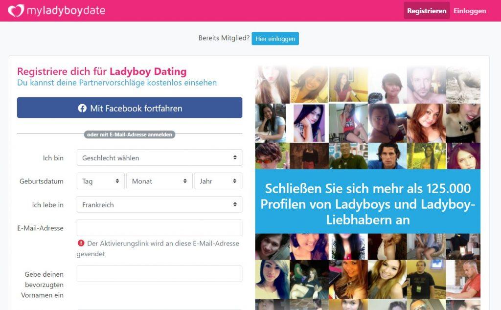 My Ladyboy Date Anmeldung