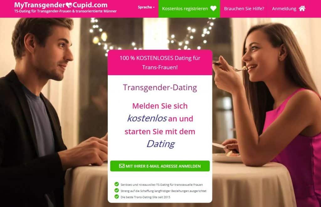 My Transgender Cupid Hauptseite der Website