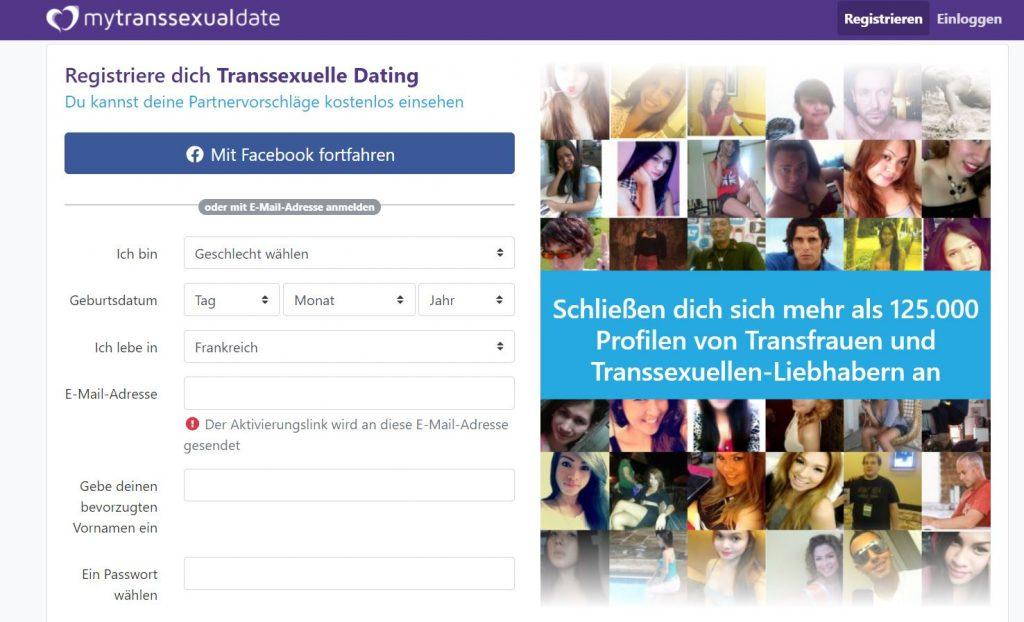 MyTranssexualDate Anmeldung