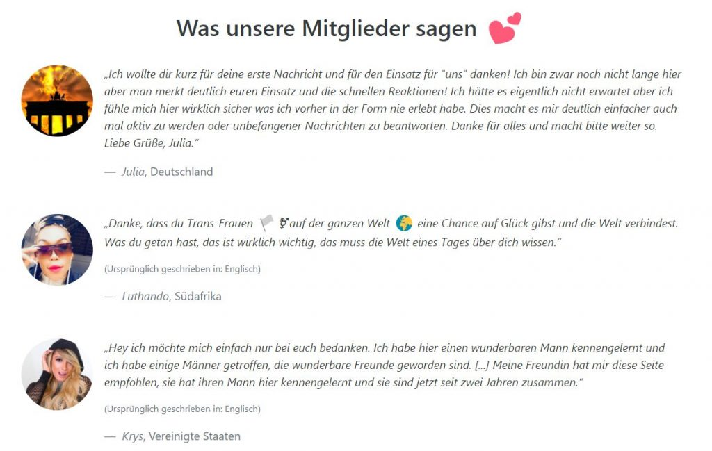 MyTranssexualDate Geschichte