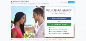 MyTranssexualDate Hauptseite der Website